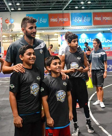 Summer camp gallery with Ricky Rubio
