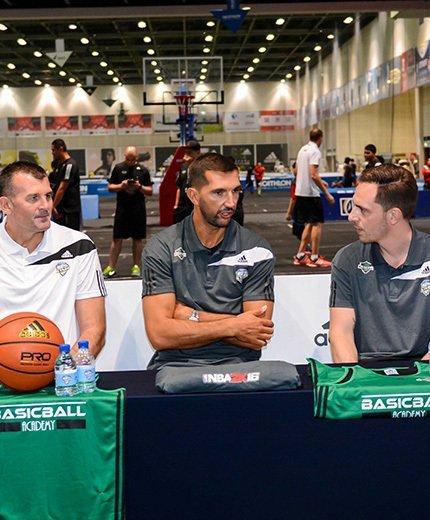 Meet NBA superstars Peja Stojakovic and Ricky Rubio