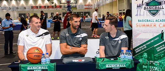 Meet NBA superstars Peja Stojakovic and Ricky Rubio